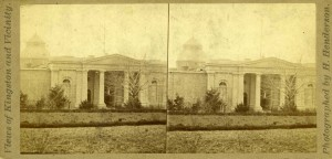 Stereoscopic photograph of Kingston Penitentiary taken by H. Henderson, circa 1890