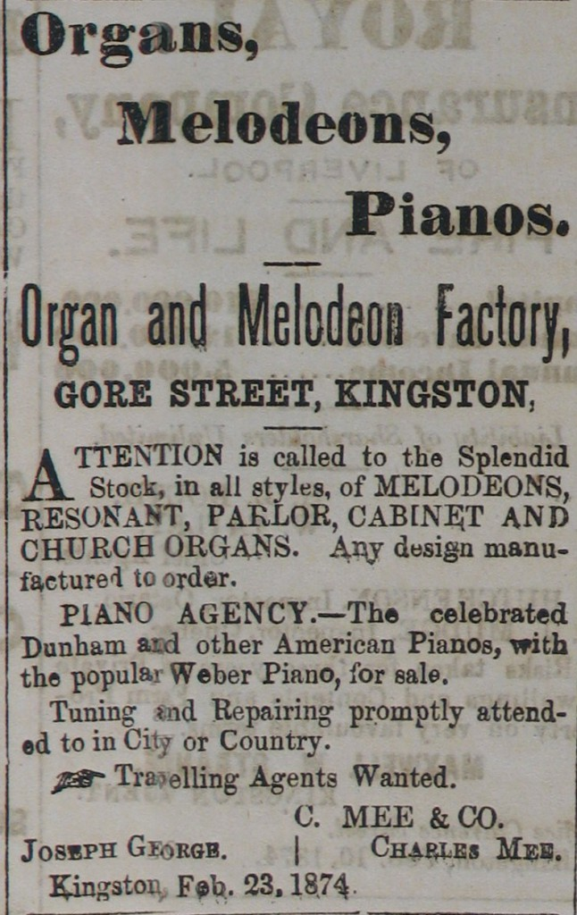 Organ and Melodeon Factory (1874).