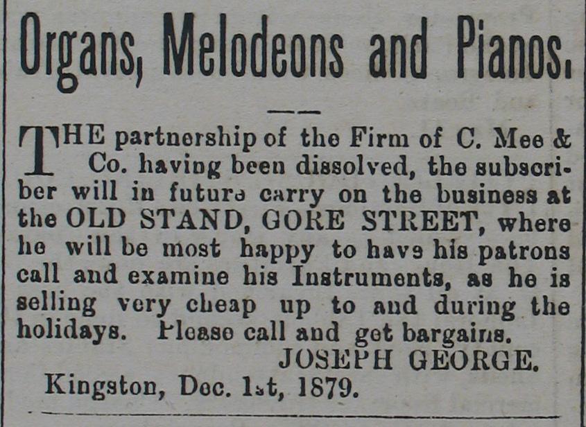 Organs, Melodeons and Pianos (1879).