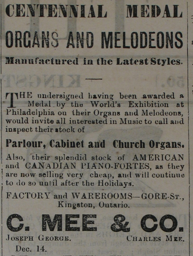 Organs and Melodeons Manufactured in the latest styles article.