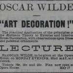 May 5th, 1882 Newspaper Clipping about Wilde's Lecture