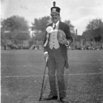"""Subject to the racist attitudes of the day, Alfie became the """"charm piece or object of amusement for the Queen's University football team of white men""""."""