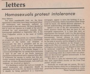 Article: Homosexuals Protest Intolerance