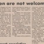 Queen's Journal, Oct 1973: Men Are Not Welcome