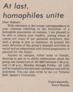 Article: Homophiles Unite