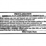 1992 Clipping: Gay Pride Day Proclamation