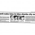 1985 Clipping: Gay Kiss-in Shocks Mayor