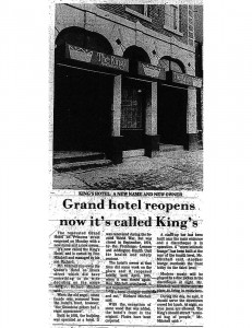 Grand Hotel Repens Now It's Called King's