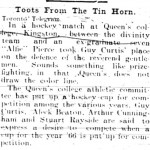 Note about Alfie taking Guy Curtis' place. British Whig, 12 Feb 1902, p5