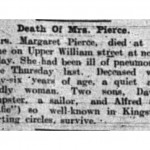 Death of Mrs. Pierce