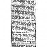Article about lightning hitting Mrs. Pierce's house, 24 June 1901 p2
