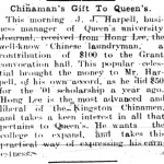 Chinaman's Gift to Queen's