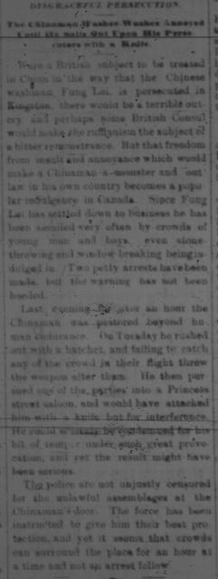 Disgraceful Persecution 1881