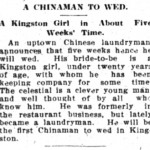 Chinaman to Wed 1912