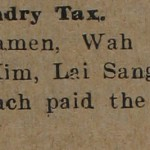Chinese Laundry Tax