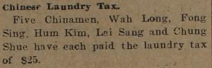 Chinese Laundry Tax