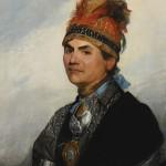 Joseph Brant, by Gilbert Stuart. 1786, oil on canvas