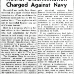 Globe and Mail, 4-5-1946 p.6: Racial Discrimination Charged Against Navy