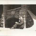 Frank Lee at Queen's University, Ontario Hall, 1941