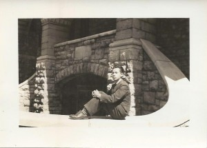 Frank Lee at Queen's University, Ontario Hall, 1941