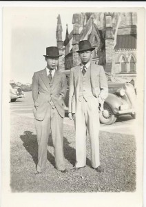 Tommy Lee, Queen's '46, and Frank Lee, Queen's '45