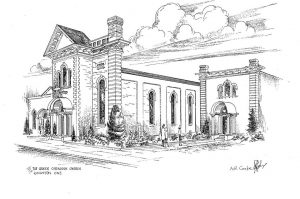 A sketch of our current church, done by A.R. Cooke.