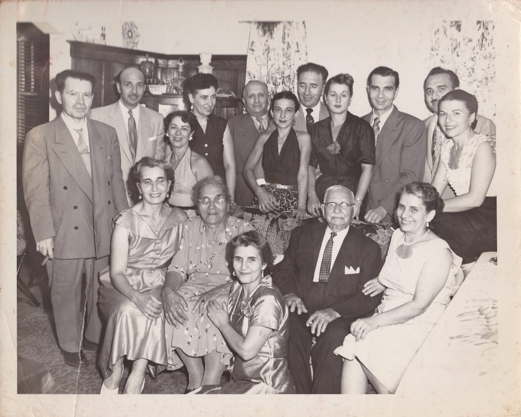 A family gathering of the Sakell and Zakos families, early Greek families in Kingston.