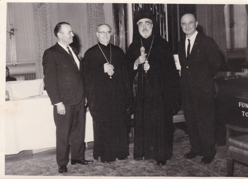 This photo is from the 1950s, when the Bishop at the time visited our community.