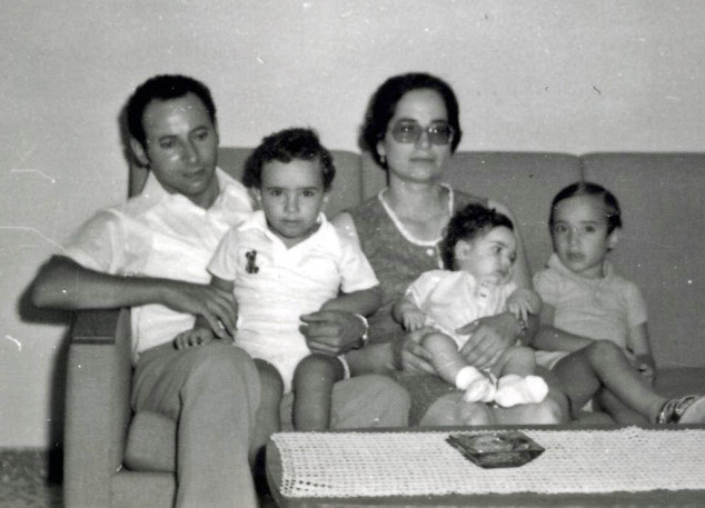 Andreas, Cleo, and their children, before leaving for Canada (1976).