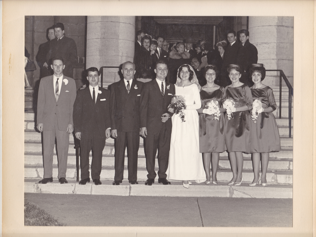 Chris and Murva's 1961 Wedding outslide of St George's.