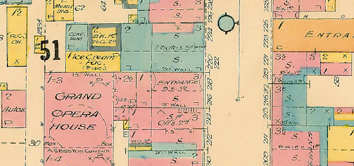 220 Princess Street on a map from 1924, the location that the Sakells had their Ice Cream Parlor.