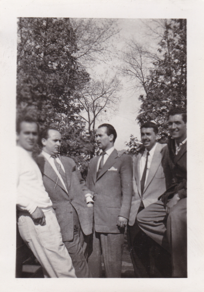 Fil Menikefs (far left) in Gananoque with some other Greek Kingstonians, including the Karkoulis brothers.