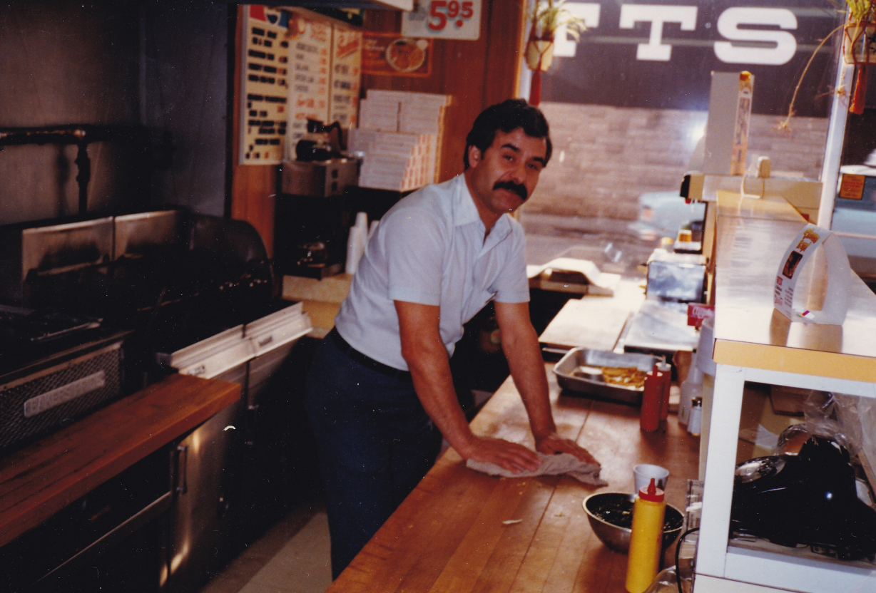 Pandelis Bettas at his Olympian Billiards and Restaurant Take-Out