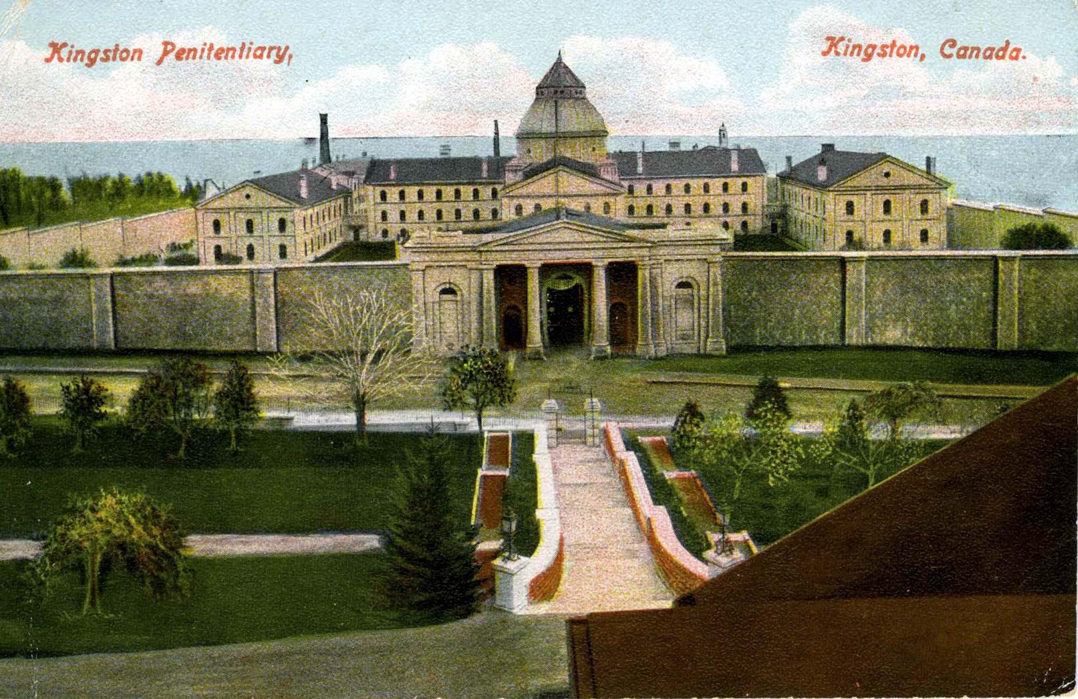 Postcard of Kingston Penitentiary, 1905