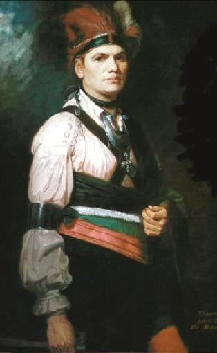 Joseph Brant, painting by George Romney 1776